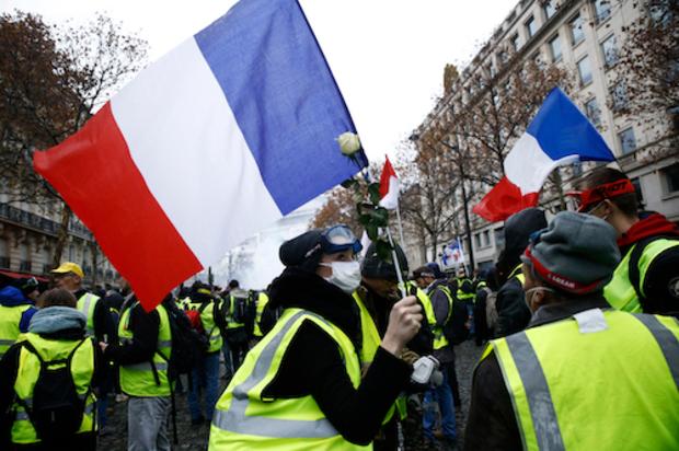 frankreich protest revolution Macron Emmanuel Macron gelbwesten