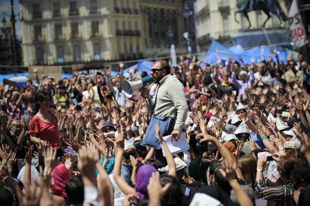 demokratie partizipation spanien protest eurokrise arbeitslosigkeit