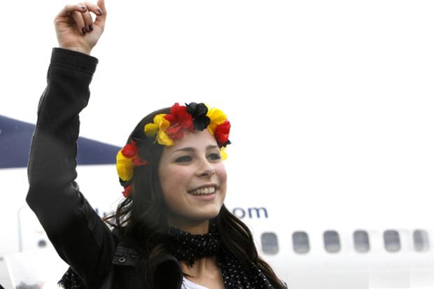 angela-merkel deutschland eurovision-song-contest lena-mayer-landrut fussball-wm-2010 image