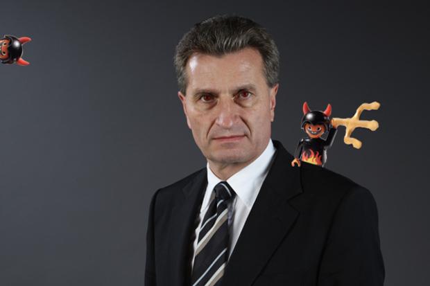 diplomatie sprache englisch guenther-oettinger eu-kommission