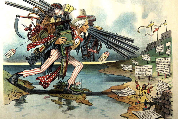 Image result for photos of  cartoons depicting US Empire as world hegemon